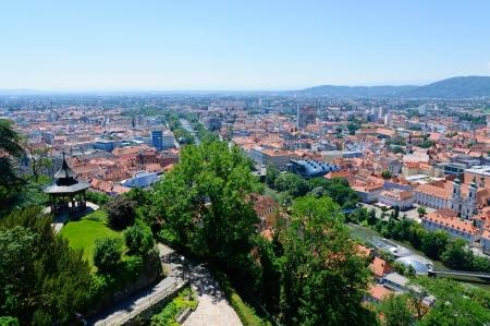 The Historic center of Graz in Austria