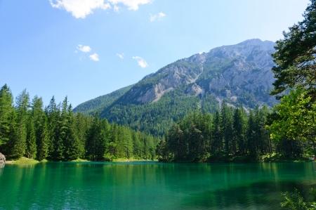 Green lake  Grüner see  in Bruck an der Mur, Austria Stock Photo