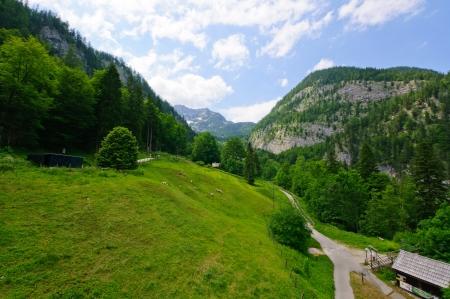 oldest: Alps and the Salzbergwerk in Hallstatt, Austria Editorial