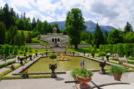 Garden of the Linderhof Palace in Germany Stock Photo - 20552338