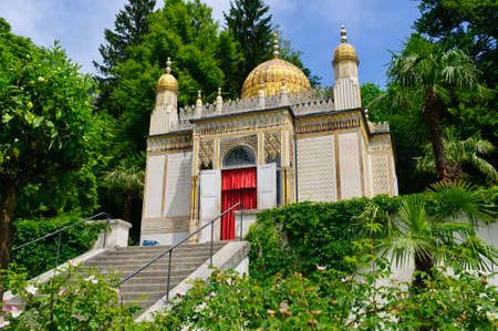 ettal: The Moorish kiosk at the Linderhof Palace in Germany Editorial