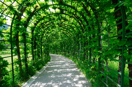ludwig: Garden of the Linderhof Palace in Germany Stock Photo