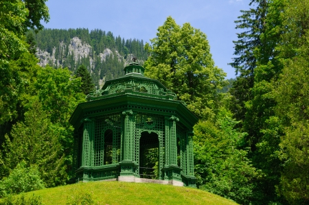 Garden of the Linderhof Palace in Germany photo