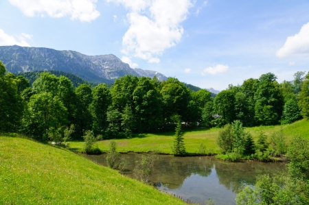 nature landscape: Bavarian Alps in Germany Stock Photo