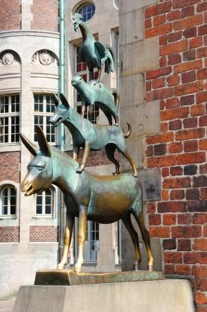Die Statue der Bremer Stadtmusikanten