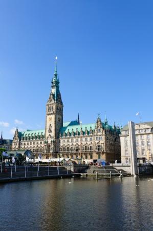 Das Rathaus von Hamburg Lizenzfreie Bilder