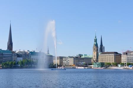 hamburg: Old city of Hamburg and the Alster
