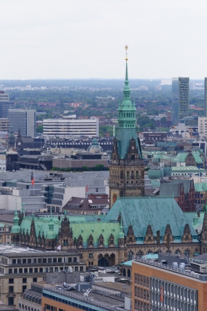 The Old city of Hamburg, view from the St Michael s church photo