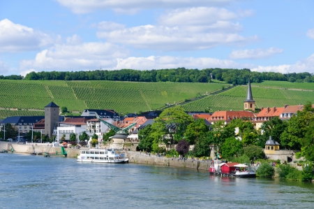 main river: The City of W�rzburg and the Main river