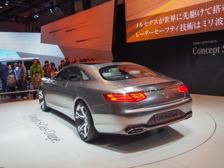 TOKYO, JAPAN - November 23, 2013  New S-Class Coupe at the booth of Mercedes-Benz The Tokyo Motor Show is a biennial auto show at the Tokyo Big Sight in Odaiba, Tokyo for cars, motorcycles and commercial vehicles  The Show is the biggest auto show in Asia