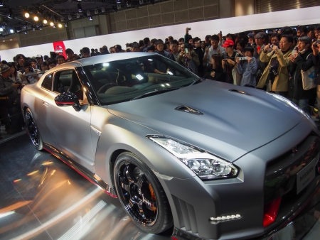 TOKYO, JAPAN - November 23, 2013  GT-R at the Booth of Nissan Motor The Tokyo Motor Show is a biennial auto show at the Tokyo Big Sight in Odaiba, Tokyo for cars, motorcycles and commercial vehicles  The Show is the biggest auto show in Asia, and a one of