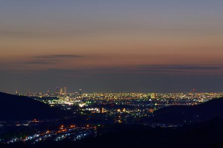 magic hour: The City of Nagoya at dusk