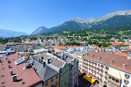 Cityscape of Innsbruck in Austria photo