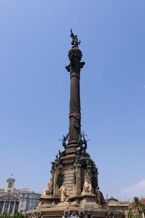 The Tower of Columbus in Barcelona, Spain Standard-Bild