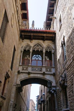 An dem gotischen Viertel in Barcelona, ??Spanien Lizenzfreie Bilder