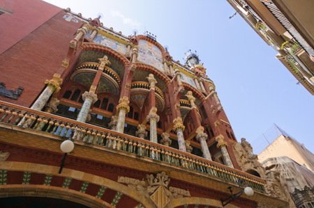 Palau de la Msica Catalana in Barcelona, ??Spanien Standard-Bild - 29670034
