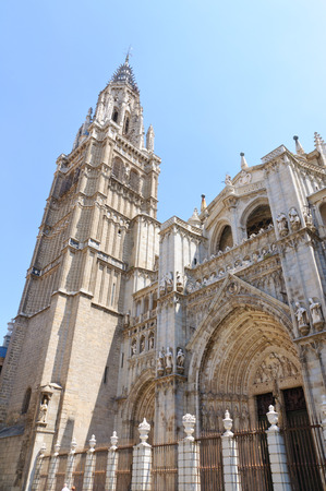 The Cathedral in the historic city of Toledo in Spain