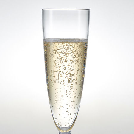 glass with champagne Stockfoto