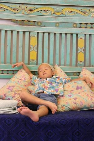 Sleeping Japanese boy