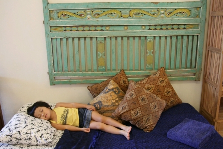 Sleeping Japanese girl 版權商用圖片 - 24745748