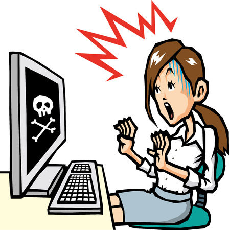 40 s: PC trouble Illustration