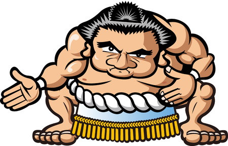 Sumo wrestler Illustration
