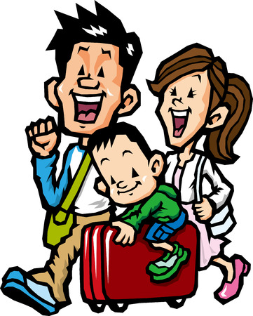 family travel Illustration