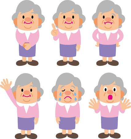 shaken: grandmother Illustration