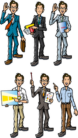 salaried worker: businessman Illustration