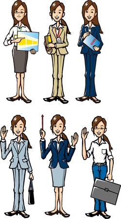 キャリア ・ ウーマン  イラスト・ベクター素材