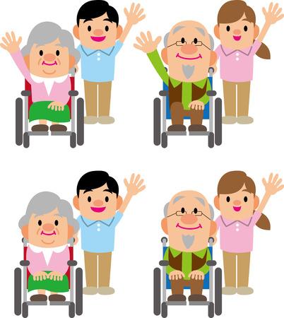 介護福祉士と老人