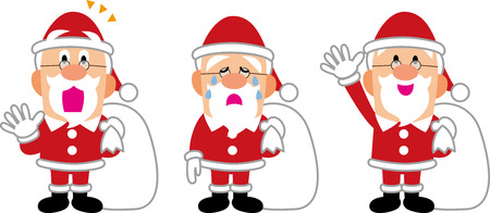 The collection of Santa Claus pauses
