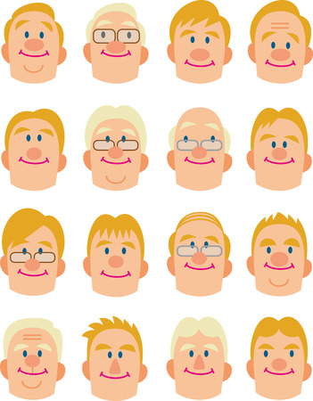 foreigners face  Illustration