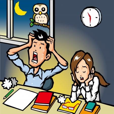 impatient: Les heures suppl�mentaires Illustration