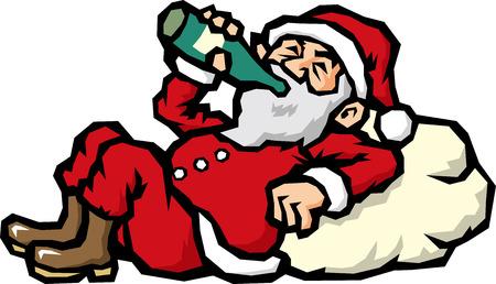 topical: Drunkard Santa Claus