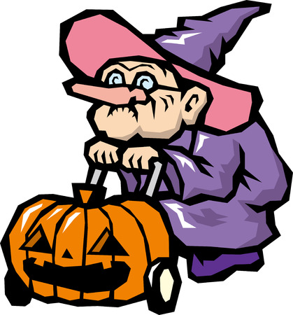 A witch Vector