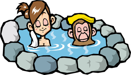 openair: Open-air bath Illustration
