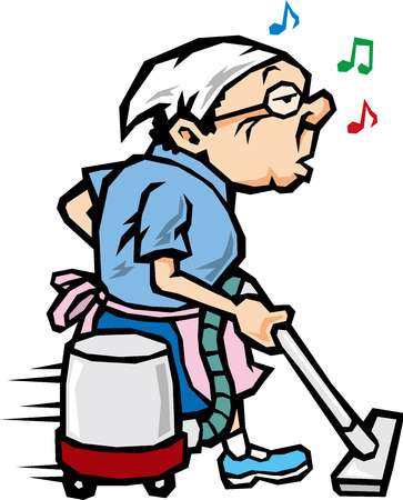 middle age woman: cleaning woman
