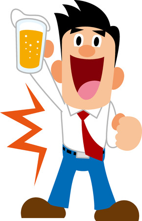 salaried worker: Drinking session Illustration