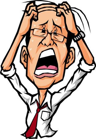 impatient:  stressed businessman