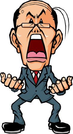 persona enojada: empresario se enoja