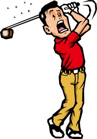 Golfers swing