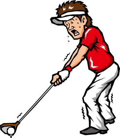 beginner: golfer playing golf