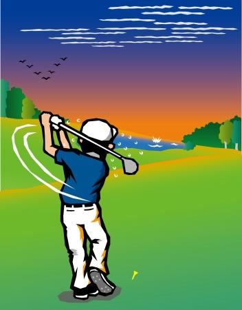 specialities: Golf scenery  Illustration