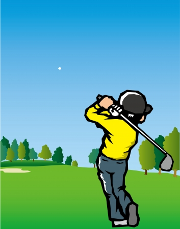 Golf scenery  Illustration