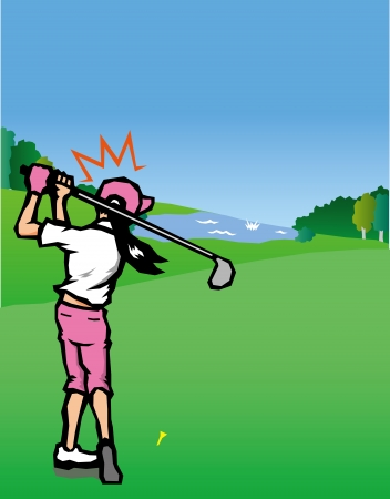 specialities: Golf scenery  Illustration