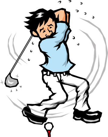 beginner: playing golf