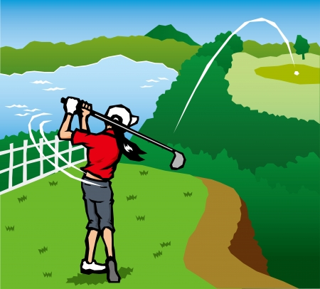 Golf scenery  Vector