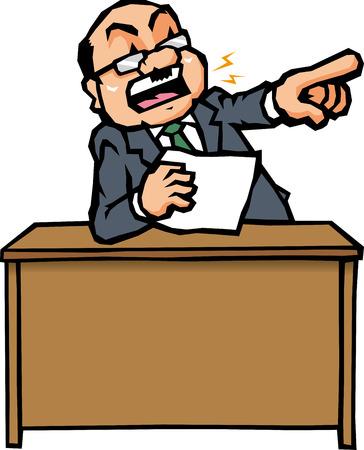angry boss: angry boss Illustration