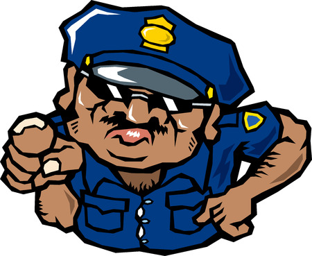 interrogation point: Foreign policeman